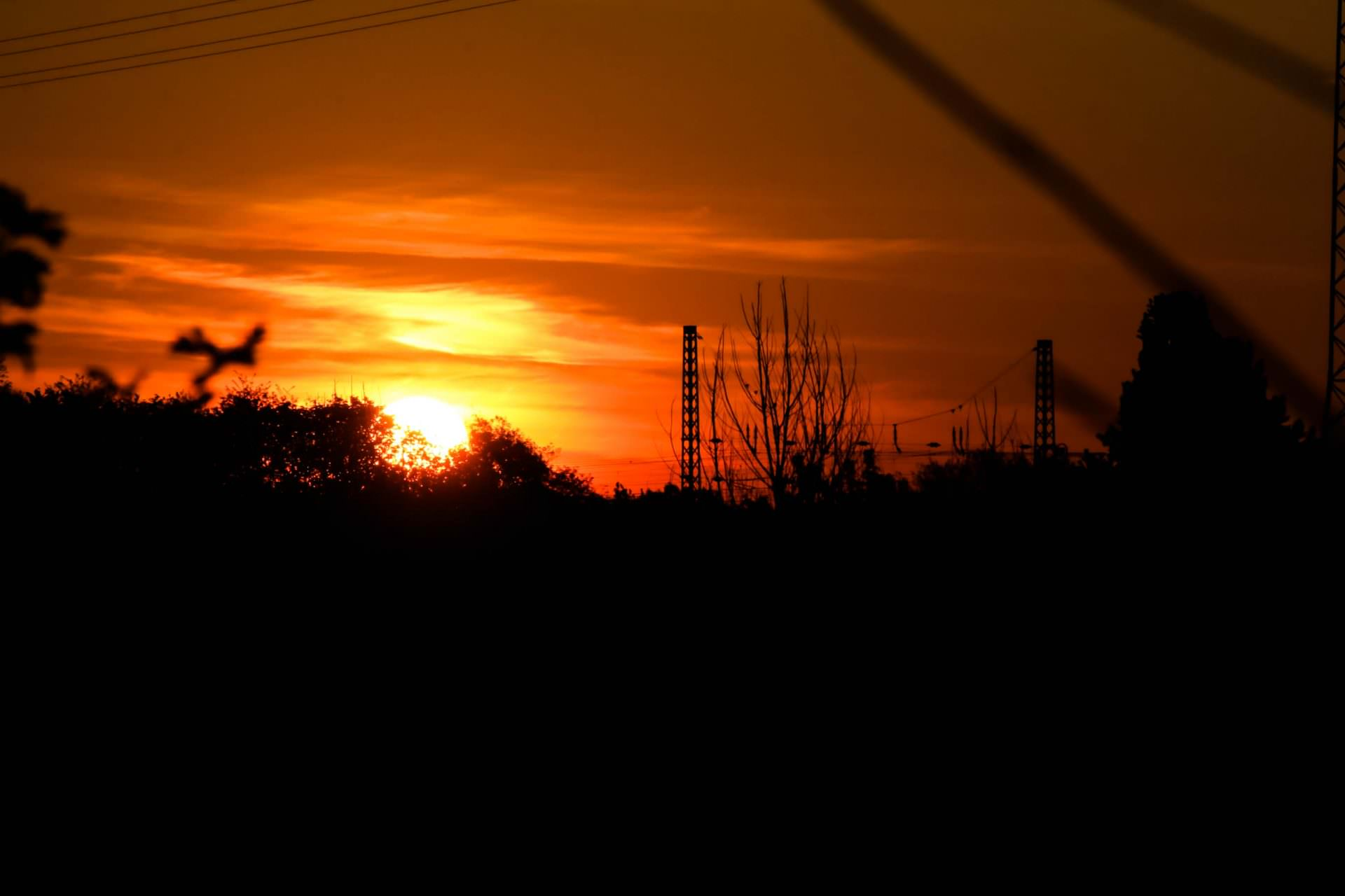 Sonnenaufgang in Duisburg